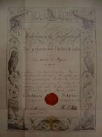 0_Urkunde_Mitgliedschaft_Appia_18.April_1860